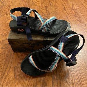 Chaco EUC Rainbow Prism Mint Z1 Classic Sandals 9